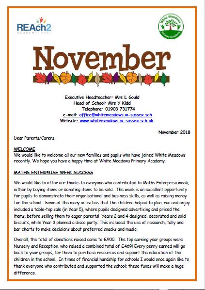 November 2018 Newsletter