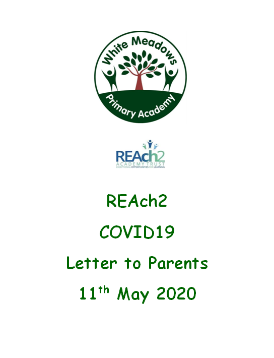 REAch2 COVID19 Letter to Parents 11th May 2020